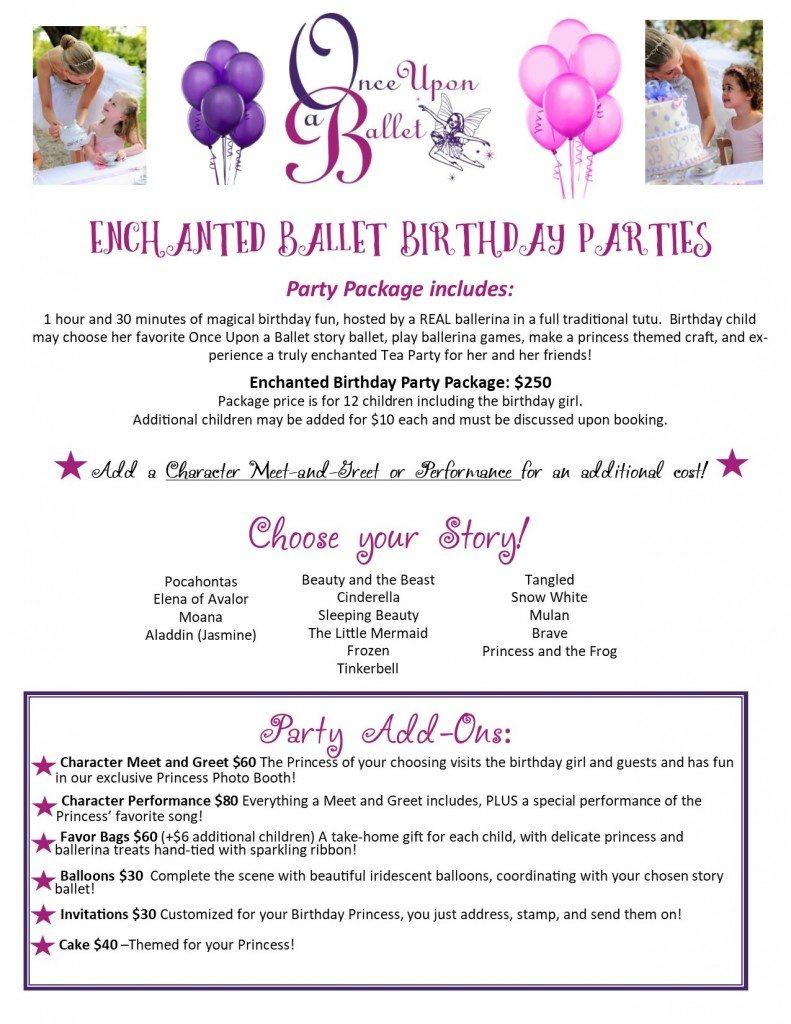 Ballet Birthday Parties